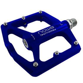 NOW8 M46 Flat Pedals 6 Pins, blue